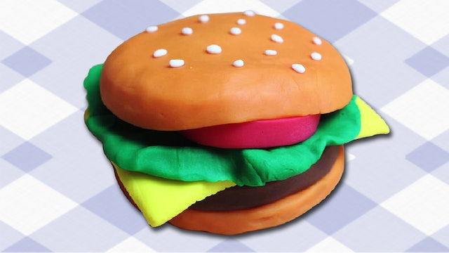 How To Make Play Dough Burger