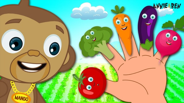 Healthy Vegetables Finger Family Song