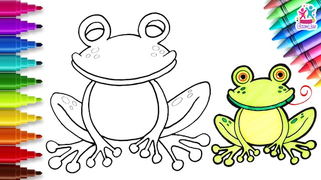 Chiki Art -  How to Draw a Frog