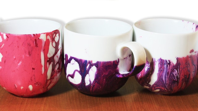 Marble Watercolour Mugs