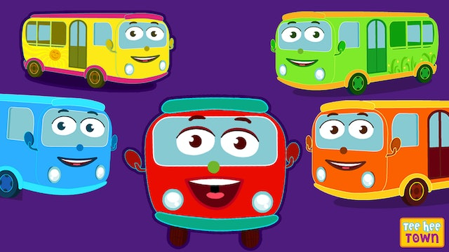 Teehee Town - Learn Colors with Wheels On The Bus Song