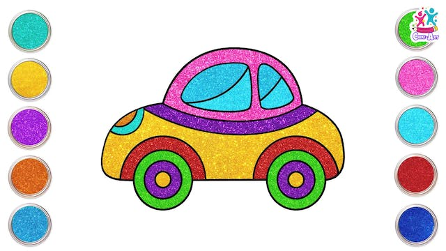 Chiki Art -  How to Draw a Car