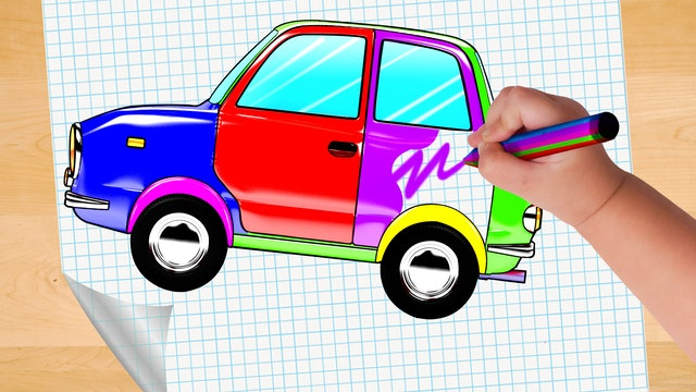 Learn Colors With Doodling Of The Car