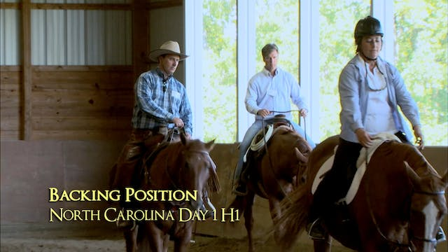 Disc 3 – Chapter 7 - Riding Form - Backing Position