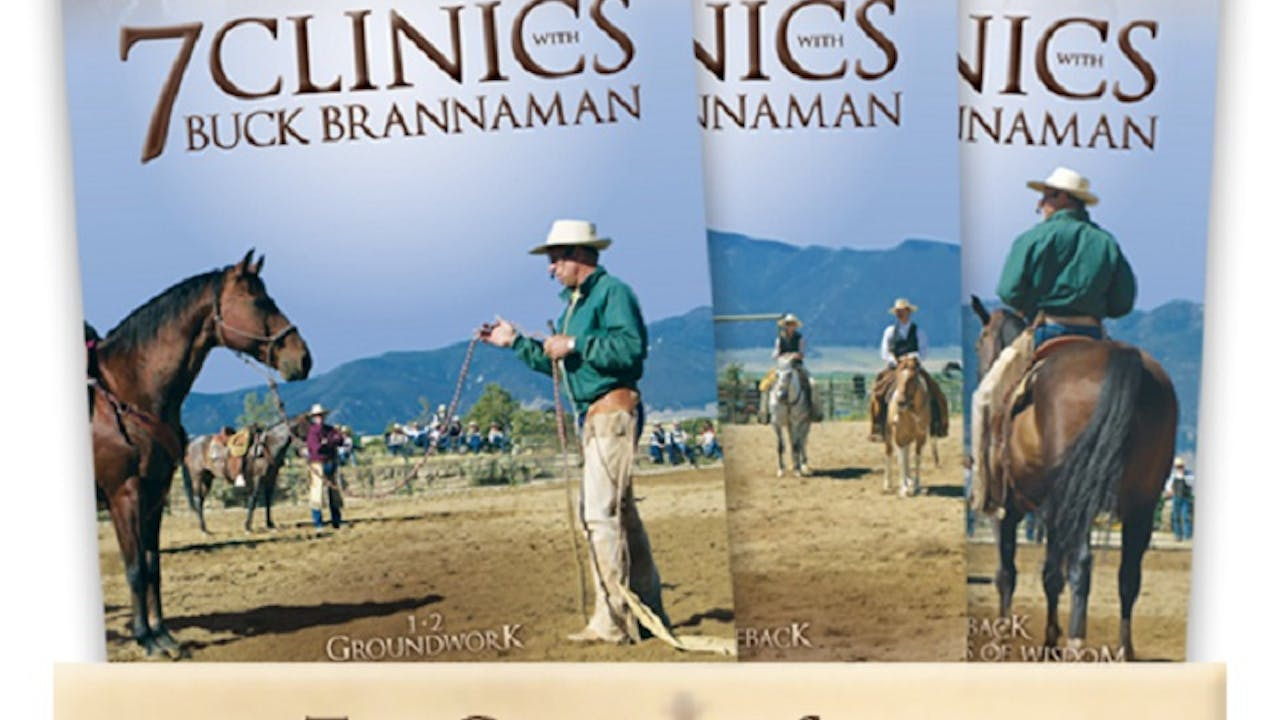7 Clinics with Buck Brannaman Complete Set