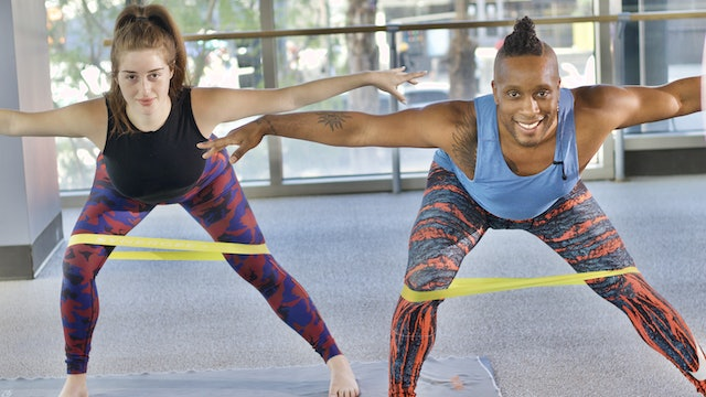 30-Min Barre Band Bootcamp with Cornelius J