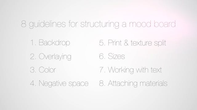09 Eight guidelines for structuring a Mood Board