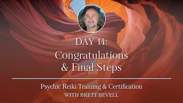 Day Fourteen: Congratulations & Final Steps