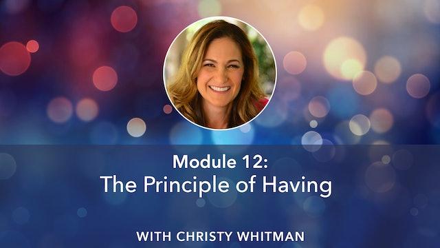 Christy Whitman Module 12