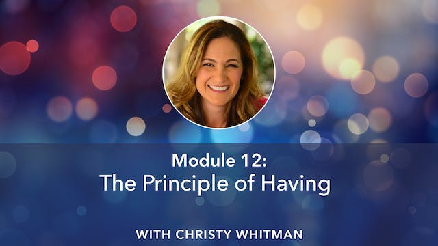 Christy Whitman Module 12
