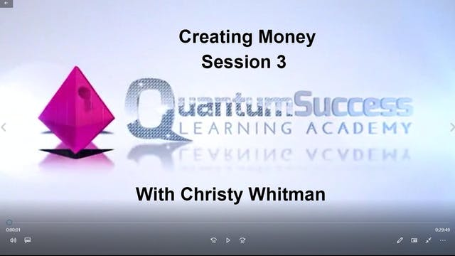 Creating Money Session 3