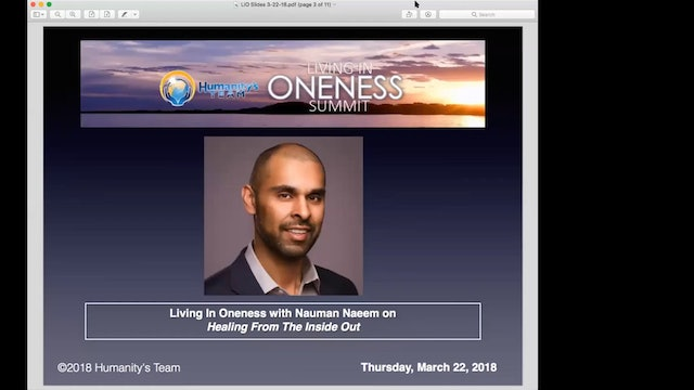 """LIO 2018 Dr Nauman Naeem on """"Healing From The Inside Out"""""""