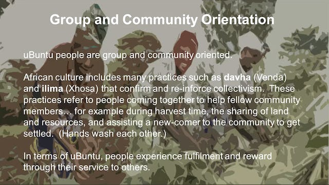 7: Cultural Expression of uBuntu with...