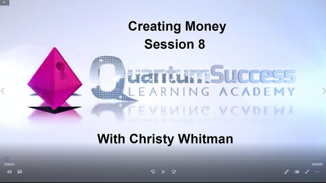 Creating Money Session 8