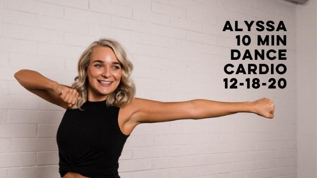 ALYSSA - 10 MIN DANCE CARDIO HOLIDAY