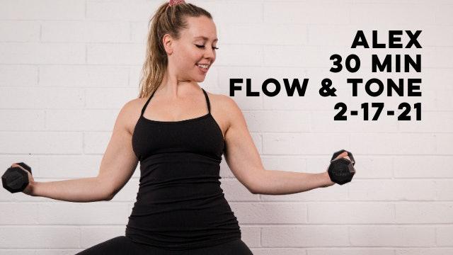 ALEX - 30 MIN FLOW & TONE 2-17-21