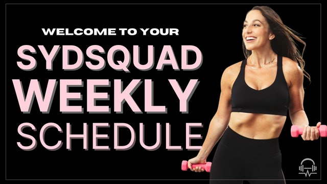 SYDSQUAD WEEKLY SCHEDULE MAY WEEK 1
