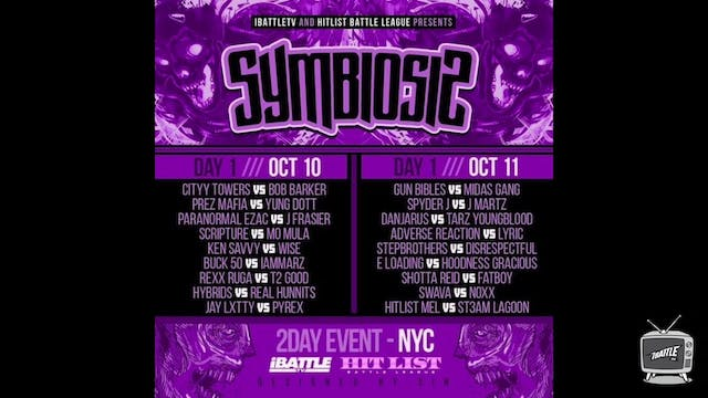 SYMBIOSIS - DAY 2 SUN ***LIVE PPV*** - Part 1
