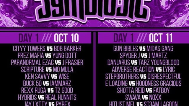 SYMBIOSIS - DAY 1 SAT 10/10 ***LIVE PPV***