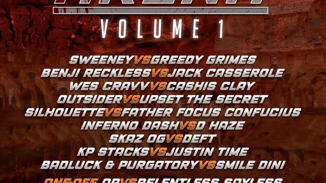 ARENA VOL 1 **LIVE PPV**