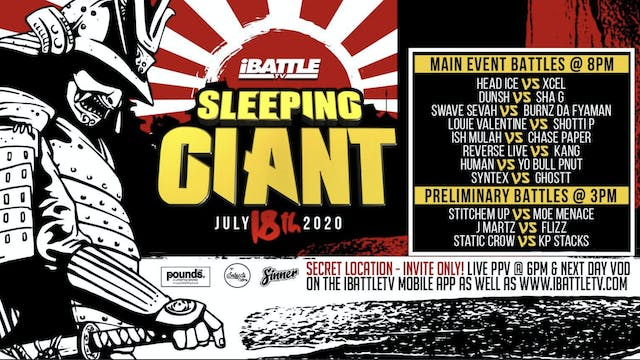 SLEEPING GIANT ***LIVE PPV***