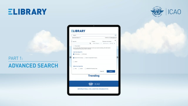 How to find publications on eLibrary: Advanced Search