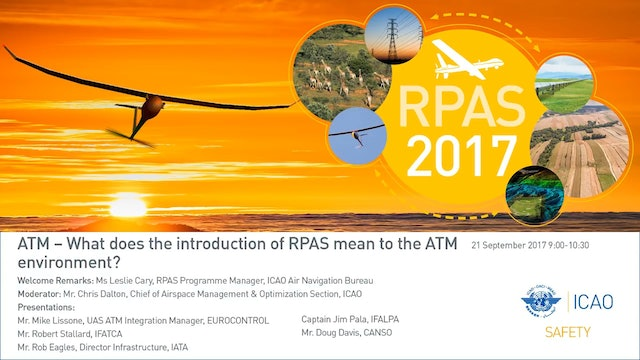 What does the introduction of RPAS mean to the ATM environment?
