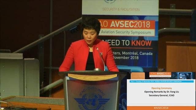 AVSEC2018 Opening Ceremony & Leader's Plenary