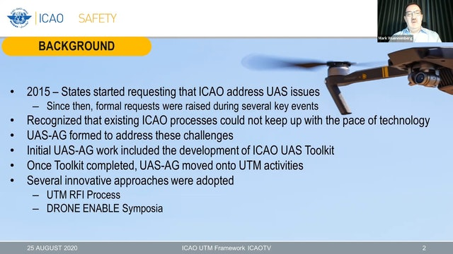 ICAO UTM Framework - Core Principles for Global Harmonization