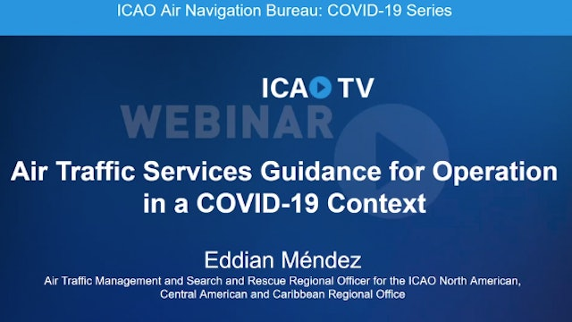 Air Traffic Services Guidance for Operations in a COVID-19 Context
