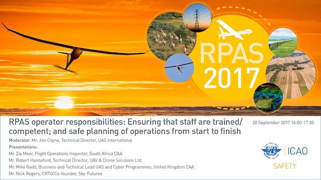 RPAS operator responsibilities