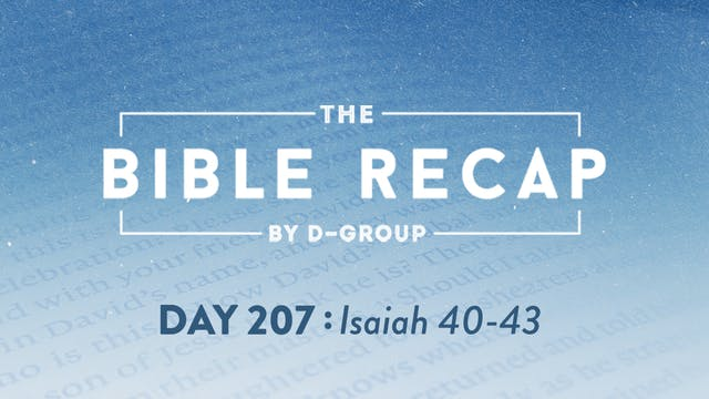 Day 207 (Isaiah 40-43)