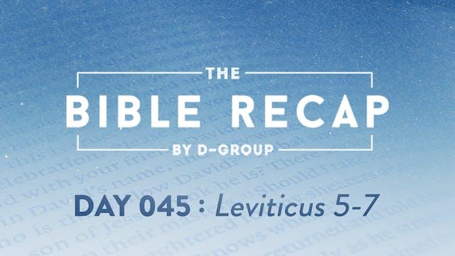 Day 045 (Leviticus 5-7)