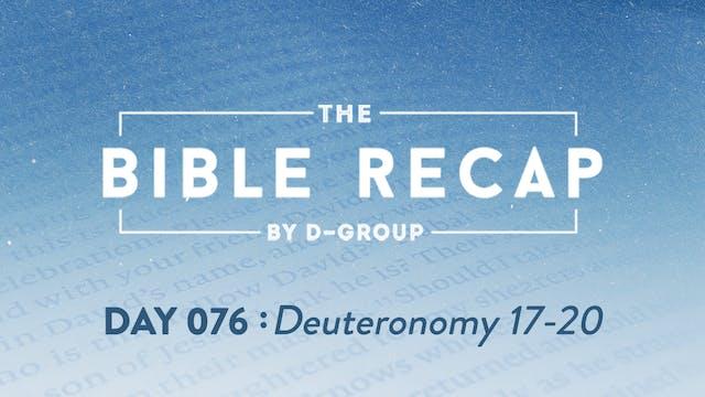 Day 076 (Deuteronomy 17-20)
