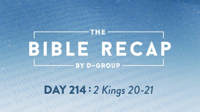 Day 214 (2 Kings 20-21)