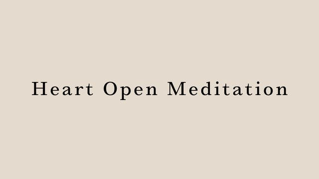 Heart Open Meditation by Chika Kim