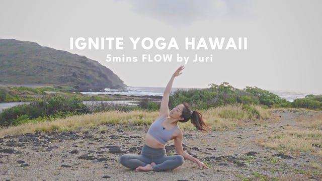 IGNITE YOGA HAWAII - 5mins Flow by Ju...