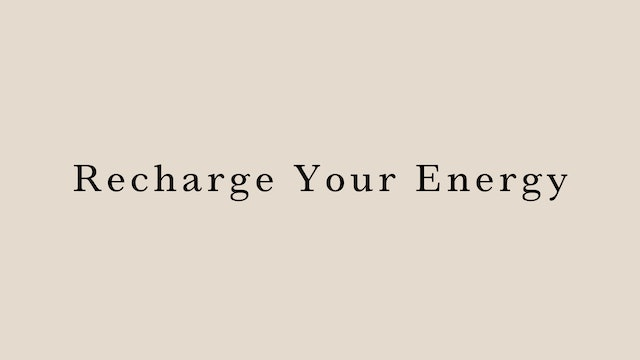 Recharge your energy by Juri Edwards