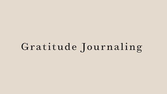 Gratitude Journaling by Juri Edwards