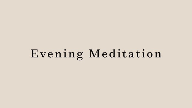 Evening Meditation by Hanako Tomita