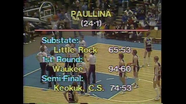 1982 Boys Basketball Class 1A Championship Game Central City vs. Paullina Part 1