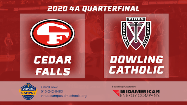 2020 Basketball 4A Quarterfinal Highlights (Cedar Falls | Dowling Catholic)