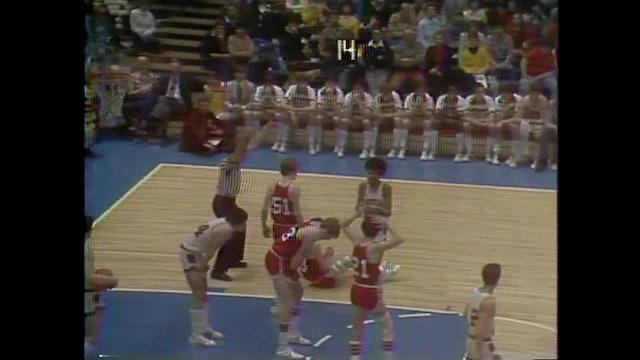 1981 Boys Basketball Class 3A 1st Round DM Lincoln vs. Davenport Assumption Pt 2