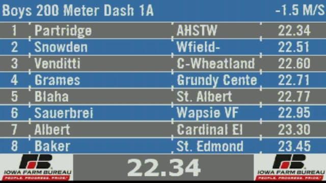 Boys 200 Meter Dash 1A Final