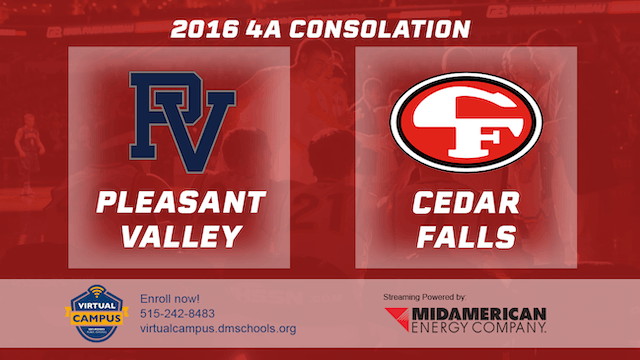 2016 Basketball 4A Consolation Pleasant Valley vs. Cedar Falls