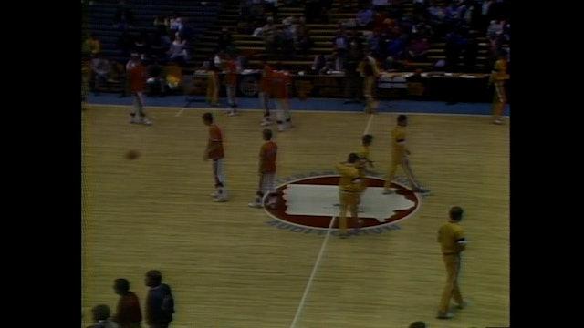 1985 Boys Basketball Class 1A Consolation Game Sioux Center vs. Mapleton Part 1