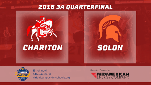 2016 Basketball 3A Quarterfinal Chariton vs. Solon