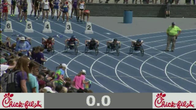 Boys Wheelchair 100 Meter Final