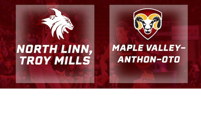 2017 Basketball 1A Quarters (North Linn, Troy Mills vs. Maple Valley-Anthon-Oto)