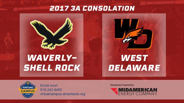2017 3A Basketball Consolation: Waverly-Shell Rock vs. West Delaware